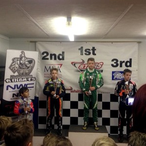 Dexter on the podium at Whilton Mill