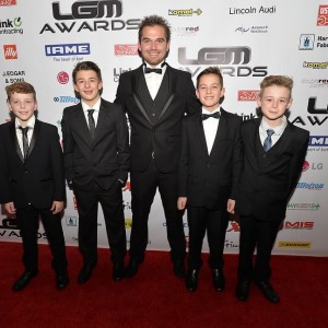 Dexter and his team at the LGM Awards 2014